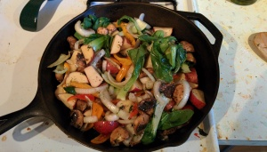 Veggie Stir Fry in Cast Iron