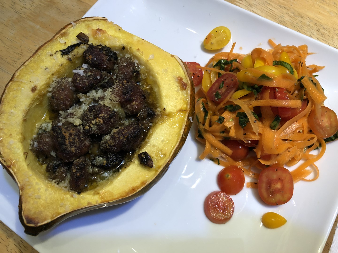 Acorn Squash with Carrot Salad