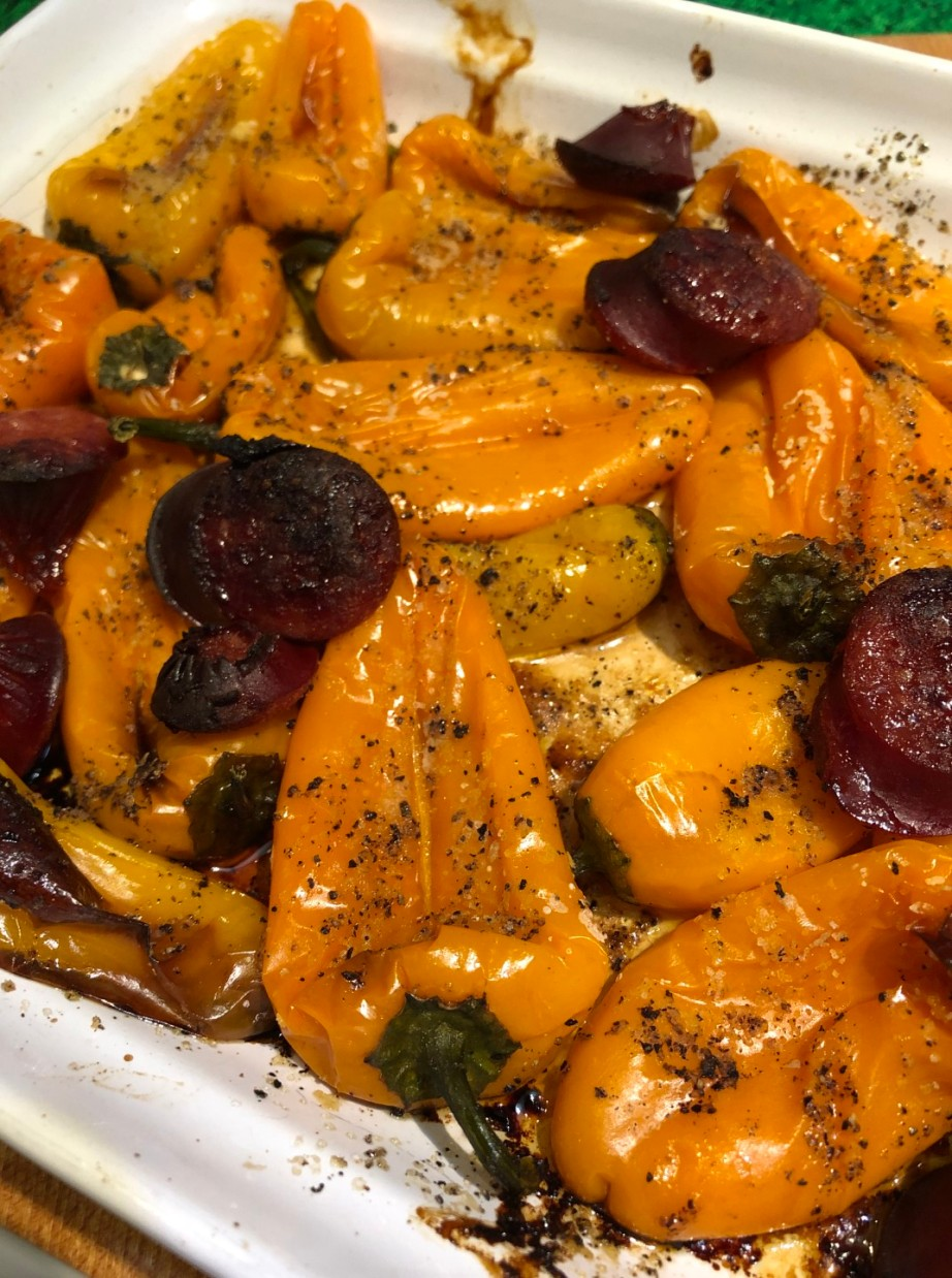 Roasted Peppers and Sausage