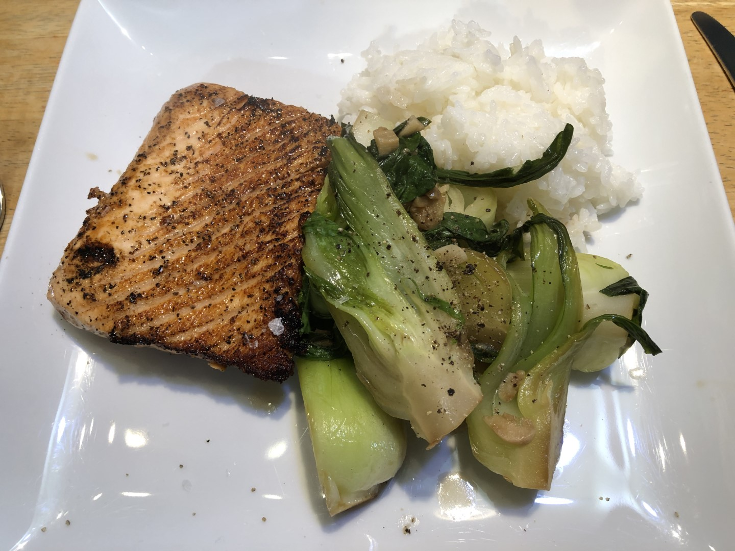 Salmon with Bok Choy